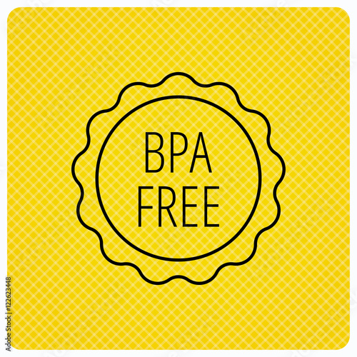 bpa free icon bisphenol plastic sign stock image and royalty free vector files on fotolia. Black Bedroom Furniture Sets. Home Design Ideas
