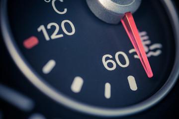 Car coolant temperature gauge