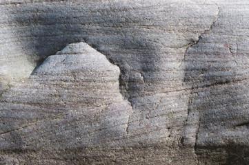 Granit Steine am Rügen. Ostseeküste - Landschaften.