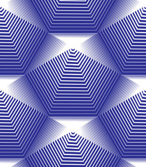 Vector stripy endless pattern, art continuous geometric backgrou