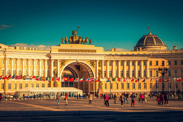 Palace square in Saint Petersburg. Russia.