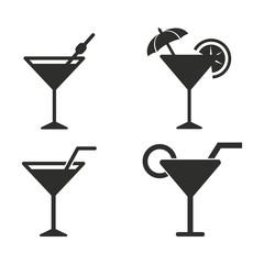 Cocktail icon set.