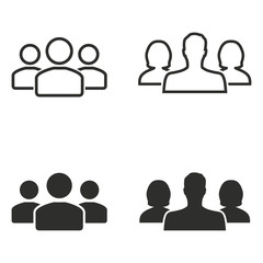 People icon set.