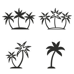 Palm tree icon set.