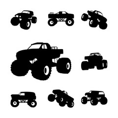 Big Monster Truck Extreme Offroad Sport Silhouette
