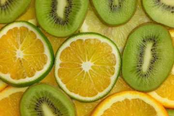 fruit slices closeup