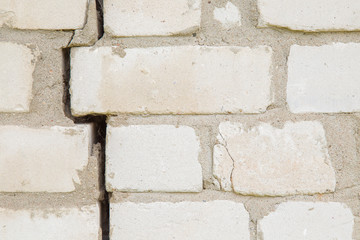 Bricks wall with gap. Background.