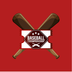 championship emblem baseball related icons image vector illustration design