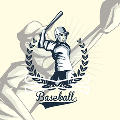 baseball related icons emblem vector illustration design