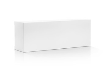 blank packaging white paper cardboard box isolated on white back