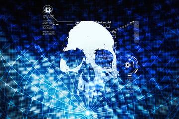 digital data background,blue abstract light hi tech pixel intern