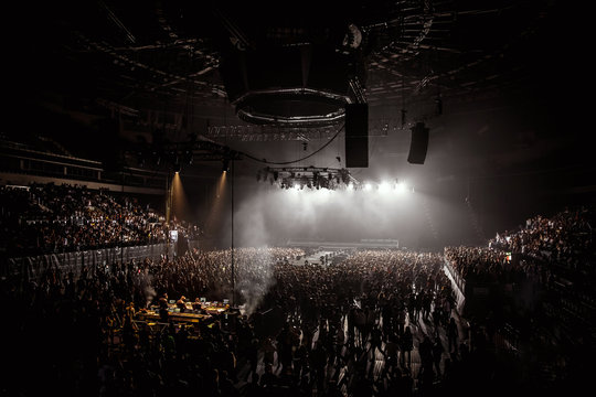 Crowd on Music Arena before a concert