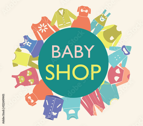 background for baby shop,