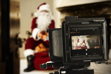santa claus and camera