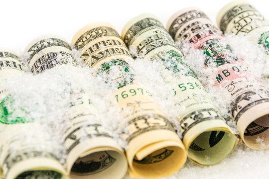 american dollar value frozen