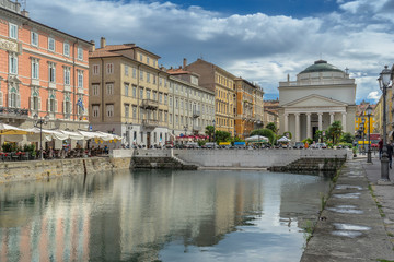 The Grand Canal in the city of Trieste in Italy