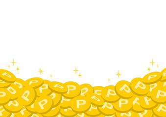ポイント コイン イラスト フレーム