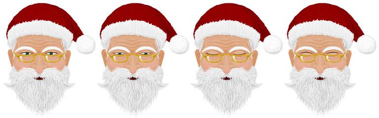 Close up of Santa's face