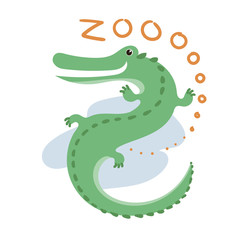 Cute Vector Zoo Animal. Kawaii eyes and style.