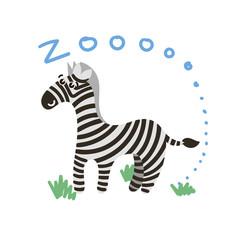 Cute Vector Zoo Animal. Kawaii eyes and style.