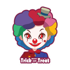 Halloween character badge - Scary Clown