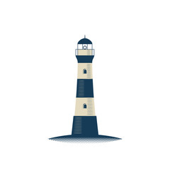 Lighthouse isolated  illustration on white background.