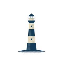 Lighthouse isolated vector illustration on white background.