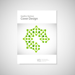 Classic brochure A4 with abstract figures. Modern connect pattern