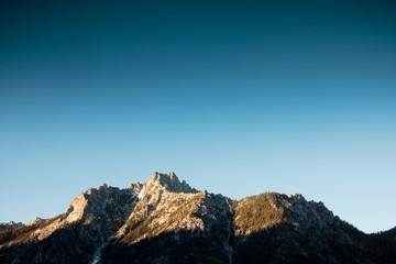 Sawtooth mountain with blue sky
