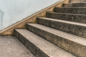 Cement with small gravel staircase