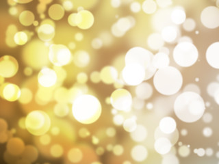 Abstract illustration bokeh light on golden background