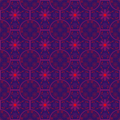 abstract pattern wallpaper flowers blue graphics