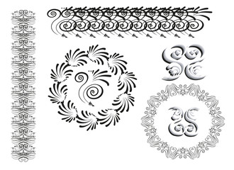Set of ornament elements.