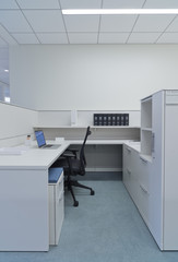 Workstation booth in office
