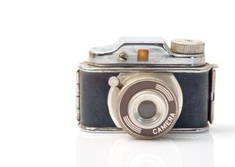 Toy camera / Vintage toy, camera on white background.
