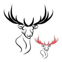 Deer head logo vector