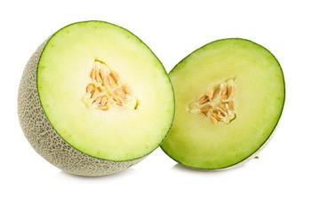 melon isolated on white background.