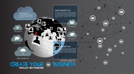 Vector infographics element. Clean, minimalist design