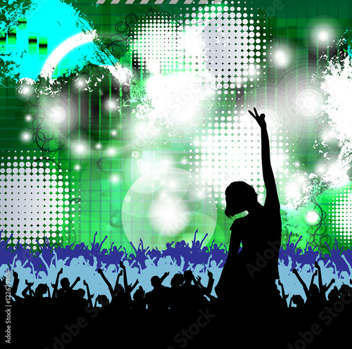 Disco Party Music Event Background For Poster Or Banner Stock