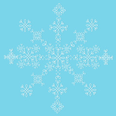 Lace snowflake isolated vector pattern sample decoration card