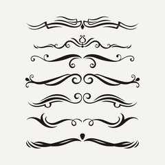 Vector set of elegant curls and swirls. Elements for design.