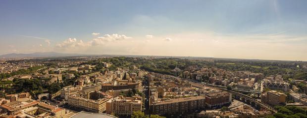 Veduta aerea panoramica di Roma: Cavalleggeri e dintorni