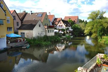 View on Harburg town in Bavaria, Germany