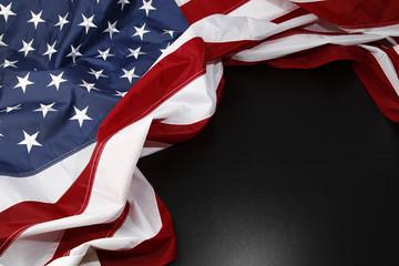 U.S. flag on black