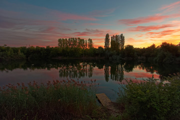 Pond at Ludwigshafen in Germany.