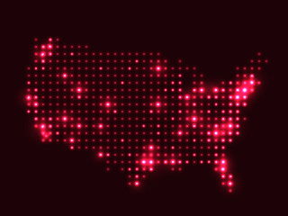 Dotted map of USA