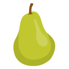fresh juicy sweet green pear vector illustration