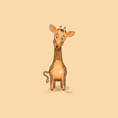 Emoji character cartoon Giraffe surprised