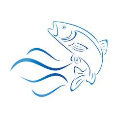 Forelle, Fisch, Logo, Angeln