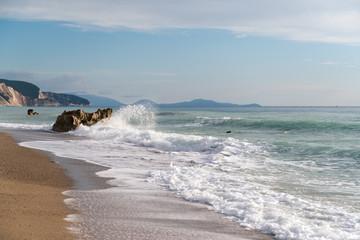 Splashing wave, Greece